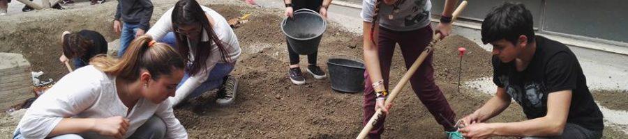 Cantiere di scavo simulato