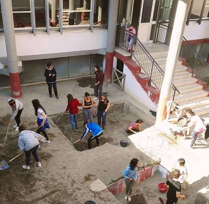 scavo archeologico simulato vesuvian in tour stabia