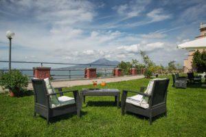Giardino panoramico hotel Campania Vesuvian Inn Stabia